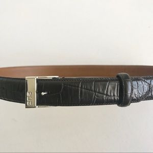 Ralph Lauren Dark Brown Belt Silver Buckle Size M